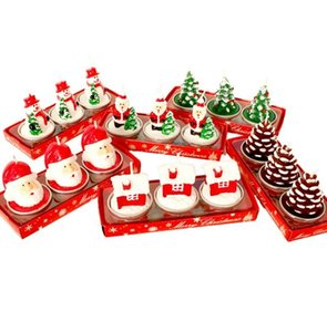 Wholesale santa snowman candles resale online - New Set Christmas Candles Santa House Snowman Christmas Tree Paraffin Candles Wedding Party Candles Decor Light
