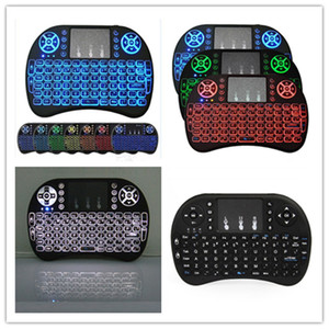 Wholesale Backlit I8 Mini Wireless Keyboard Backlight fly Air Mouse for IPTV Android Tv Box T9 T95Z plus h96 max mini MXQ pro