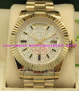 Wholesale 7 Style Luxury Watches Silver K Yellow Gold Diamond Dial mm Diamond Bezel Automatic Fashion Men s Watch Wristwatch
