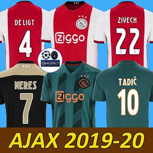 e3de7e3c7a2 Wholesale 19 20 ajax soccer jersey DE JONG DE LIGT ajaxa msterdam camiseta  fútbol VAN DE
