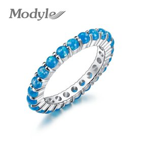 Wholesale Modyle Best Wedding Bands Jewelry Unique Round White Fire Opal Rings For Women Lover Gift