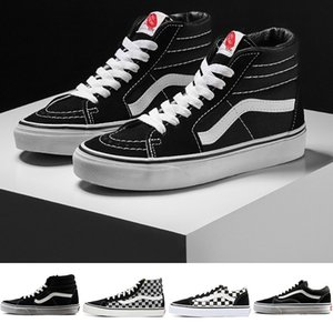 Wholesale 2019 NEW Mens Designer SK8 Hi Classic Old Skool White Black zapatillas de deporte Women Men High top Low Canvas Casual Skate Shoes