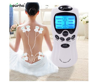 Wholesale electric acupuncture machine resale online - 8 models Russian manual Electric herald Tens Acupuncture Body Massage Digital Therapy Machine For Back Neck Foot Leg health Care