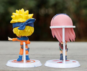 Wholesale NEW sets Naruto Sasuke Uzumaki Kakashi Gaara Action With Mounts Figures funko pop Japan Anime Collections Gifts Kids Toys
