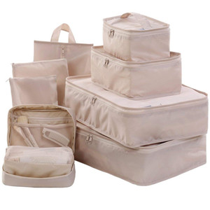 Wholesale 1bag  pcs Travel Packing Cubes Set Toiletry Kits Bonus Shoe Bag Luggage Organizers