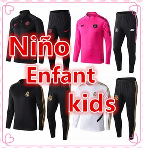 Wholesale Survêtement de football kids psg tracksuit soccer jogging jacket MBAPPE HAZARD KANTE Paris Football tracksuits Training suit
