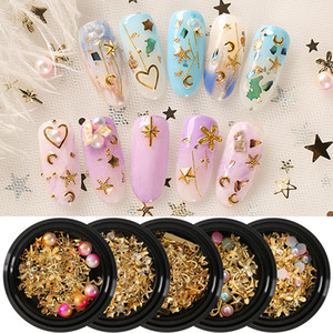 Wholesale nail styles for sale - Group buy Tamax NA038 Mixed Style Metal Nail Art Decoration Pearl Rhinestones Nails Crystal Stones Sticker Manicure Accessories Tips Nail Tools