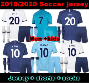 10 free DHL!19 20 Spurs kids home soccer Jersey Kits 2019 2020 Kane Son Alderweireld Eriksen Dele HOME AWAY child Football Shirt