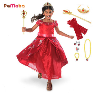 Wholesale PaMaBa Children Girls Fantasy Princess Elena of Avalor Dresses Clothes Carnival Festival Halloween Kids Cosplay Costume Frocks SH190908