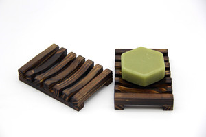 Natural Wooden Bamboo Soap Dish Tray Holder Storage Soap Rack Plate Box Container for Bath Shower Plate Bathroom