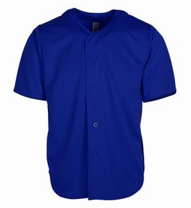 6565 567 65 12 New Custom Blank Jersey Men Women Size S-3XL Button Down Pullover