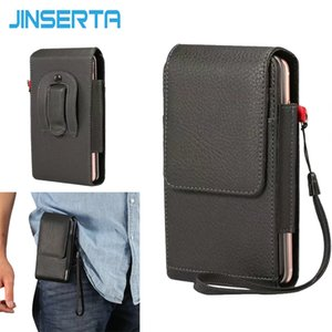 Wholesale JINSERTA Belt Clip Case For iPhone Plus X Universal Bag Card Flip Holster Phone Pouch Cover Cases for inch to inch phone