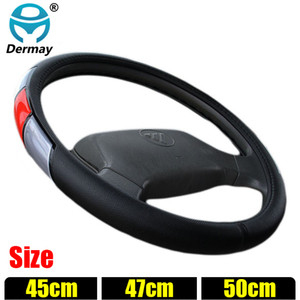 Wholesale DERMAY Size cm cm cm Steering Wheel Covers for Car Bus Truck Reflective Sports Auto Steering wheel cover Factory Outlet