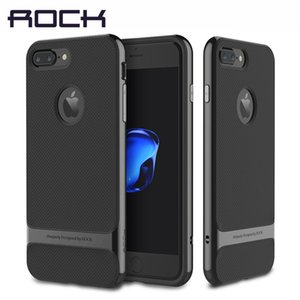 Wholesale Original ROCK Luxury Royce Phone Cases for iPhone Plus Cover PC Textured TPU Armor Case Shell for iPhone7 Case Sleek T191017