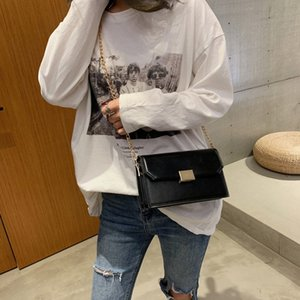 Wholesale LJL Foreign Air Small Bag Female Shoulder Bag Fashion Chain Wild Diagonal Small Square Black