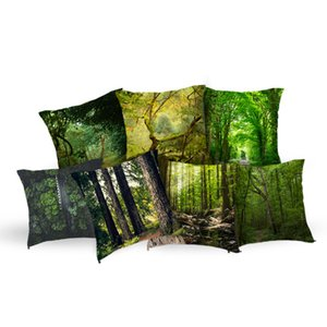 Lychee Nature Theme Polyester Pillowcases Forest Print Soft Decorative Pillow Cover Square 45x45cm Home Textile Pillow Case on Sale