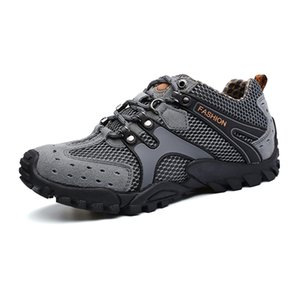 Wholesale Outdoor Sports Shoes Men Breathable Climbing Shoes Male Hiking Spring Summer Walking Sneakers Brown Gray Mens New Brand