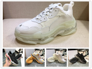 Top Quality 2019 Paris Triple S Luxury Shoes Original Unisex Low Top Sneakers Casual Outdoor Athletic Sports Trainers Shoe size 36-45 on Sale
