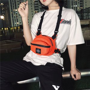 Amazing2019 Male Brand Function Vest Single Shoulder Messenger Woman Tide Ins Hip-hop Work Clothes Disco Dancing Package