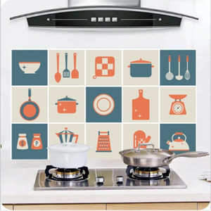 Wholesale 8 Kinds Kitchen Waterproof Tile Decals Anti Oil Washable Wall Sticker Home Decor
