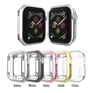 Wholesale Soft TPU Plated Bumper Cover Protective Case for Apple Watch Series 1 2 3 4