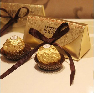 Wholesale baby shower foods resale online - Wedding Favors and Gifts Baby Shower Paper Candy Box Ferrero Rocher Boxes Wedding Favors Sweet Gifts Bags Supplies XD22517
