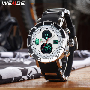 Wholesale man lcd watches resale online - Weide Sports Men Stopwatch Date Military Army Quartz Lcd Digital Quartz Movement Alarm Dual Time Zone Watch Relogio Masculino Y19052103