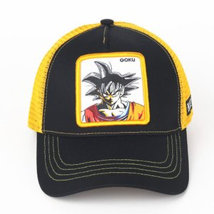 Wholesale Dragon Ball Z GOKU Embroidery Baseball Caps Spiderman Mesh Casquette Brand Outdoor Sport Summer Sun Hat Trucker Caps Gift DHL