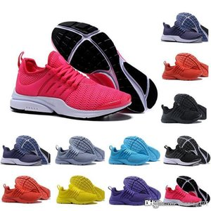 Wholesale 2019 PRESTO BR QS Breathe Triple Black White Yellow Red Mens Women Running Shoes Safari Pack Sports designer Trainer sneakers