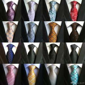 New Handmade Men Ties Silk Paisley Jacquard Tie Wedding Prom Party Neck Ties Business Formal Ties Fashion Stripes Plaids Dots Neckties A185