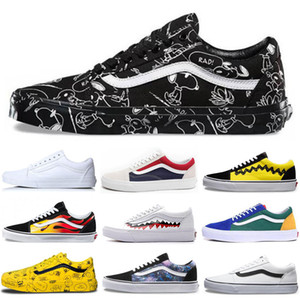 Wholesale Top Qulaity Van Old Skool Mens Fear of God Women Canvas Shoes all Black White Red Blue Skate Sneakers Training Shoes