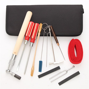 Freeshipping 13Pcs Set Piano Tuning Maintenance Tools Kit With Case For Piano Musical Instruments Parts Accessories