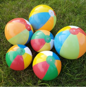 Wholesale Inflatable Beach Ball Outdoor Beach Ball Water Sports Balloon Water Toys Best Summer Toys For Children Ball Multi colour YSY57