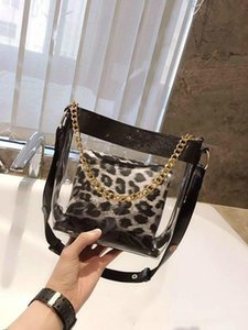 Wholesale Small Sweet Wind Transparent Lash French Single Shoulder Bag Personality Leopard Broadband Inclined Purses Designers Bags For Women Handbag