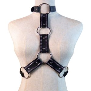 New Men women Bondage Leather Belt Chest Muscle Straps Harness Women Lingerie Clubwear Sex Bondage Metal Ring Sexy Costume