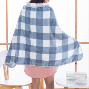 Wholesale air cape for sale - Group buy Cloak Blankets Flannel Shawl Cape Thicken Nap Office Blanket Home Air Condition Blanket Car Travel Swaddling Robe Outwear Tops Gifts D7159
