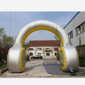 Inflatable Earphone Arch Entrance Hot Sale Inflatable Earphone Promotional Archway