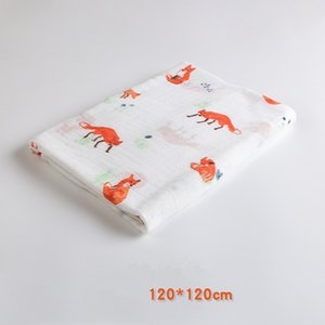 Wholesale Printed Deer Kids Twill Cotton Fabric Patchwork Cloth DIY Sewing Quilting Fat Quarters Material For Baby Child Muslin Blankets