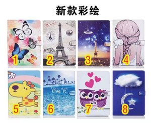 Wholesale Colorful Pattern Girl Cartoon Butterfly Deer Leather TPU Folio Stand Smart Cover Case For Apple iPad mini iPad iPad Air2