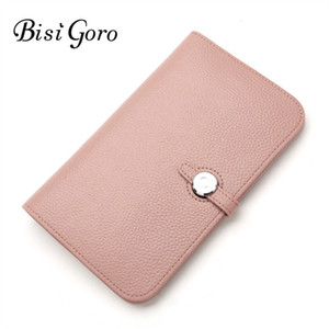 Bisi Goro Wallet 2019 Fashion Wallet Women Cowhide Leather Wallet Money Bag For Phone Brand Women Purse Long Purse Coin Purse Y19052302 on Sale