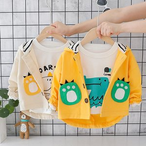 Wholesale Spring Autumn Baby Girl Clothes boys Jacket Hooded Baby Coat Cartoon Children Coat Toddler Babes Kids Clothing