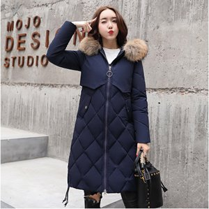 Wholesale 2018 The New Long Hair Girl Cotton Padded Jacket
