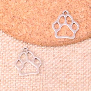 Wholesale 156pcs Charms dog bear paw Antique Silver Plated Pendants Fit Jewelry Making Findings Accessories mm
