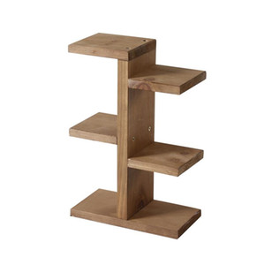 Wooden Storage Rack, Mini Plant Stand, Small Stool Display Wood Tiered Succulent Planter Stand for Indoor Outdoor Home Office Decorative