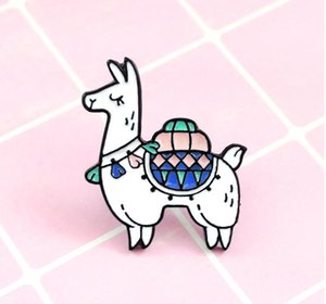 Llama Pin cute animal Alpaca brooches personality creative brooch decorate clothes backpack good quality and hot sell