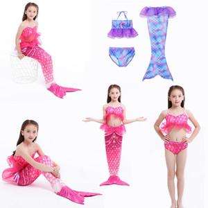 Girls Cosplay Swimsuit 3pcs Mermaid Tail swimwear kids mermaid Swim pool Cosplay Bathing Suit girls Mermaid Princess party Cosplay Costumes