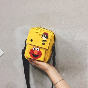 Wholesale Female bag new cartoon mini wild canvas shoulder Messenger bag summer small fresh air