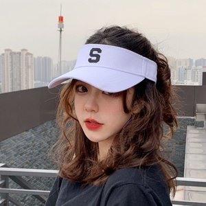 Wholesale 2019 new style golf hat sun visor sunvisor party hat baseball cap sun hats sunscreen hat Tennis Beach elastic hats