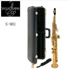 New Japan YANAGISAWA S901 Bb flat Soprano saxophone High Quality musical instruments YANAGISAWA Soprano professional shipping