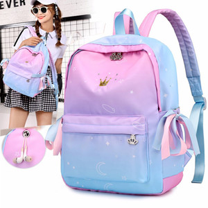 Wholesale Orthopedic Backpacks School Children Schoolbags For Girls Primary School Book Bag School Bags Printing Backpack Sac Ecolier Pink
